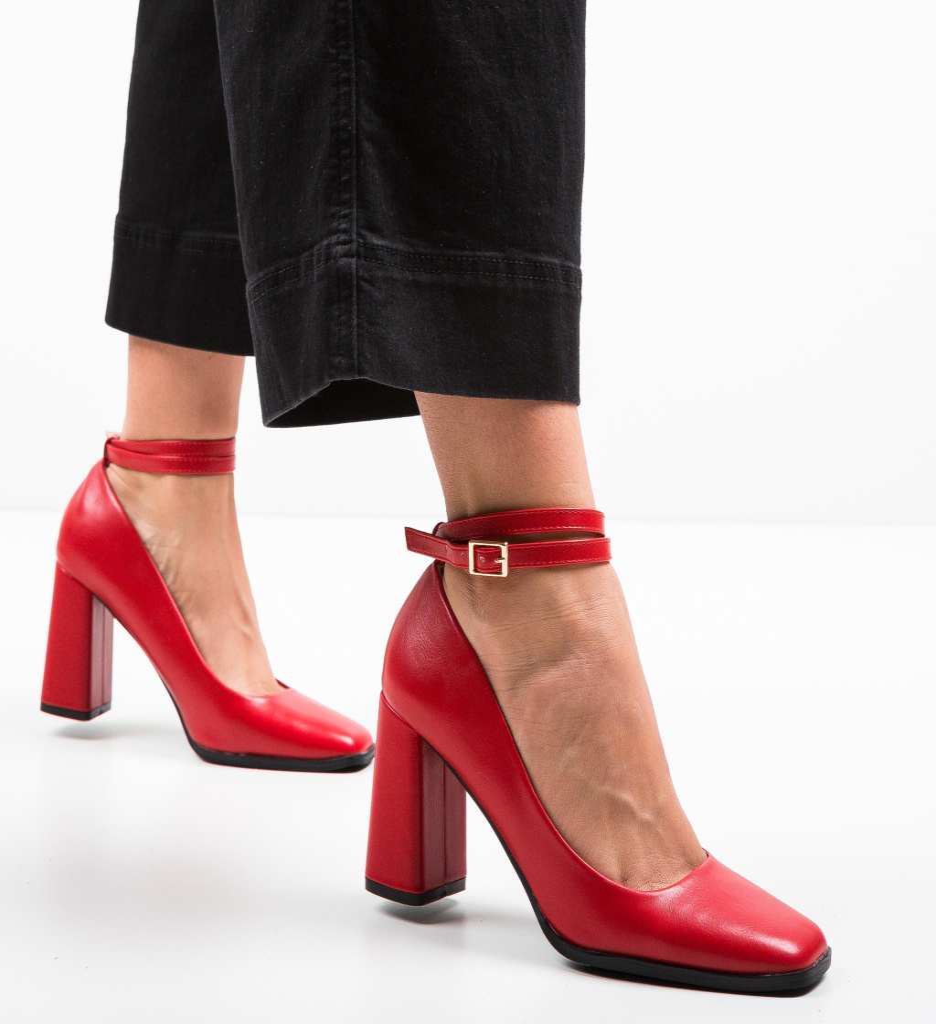 Pantofi Emme Rosii