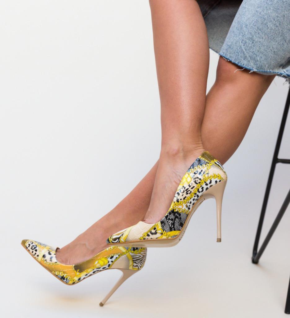Pantofi Flom Galbeni