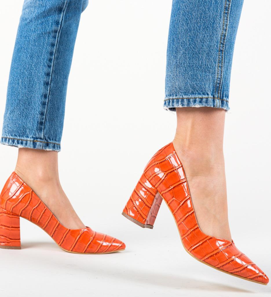 Pantofi Hilfi Portocalii