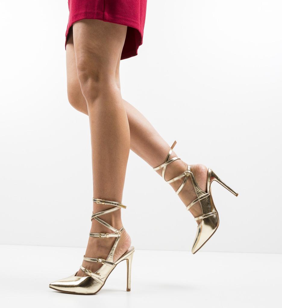 Pantofi Janem Aurii