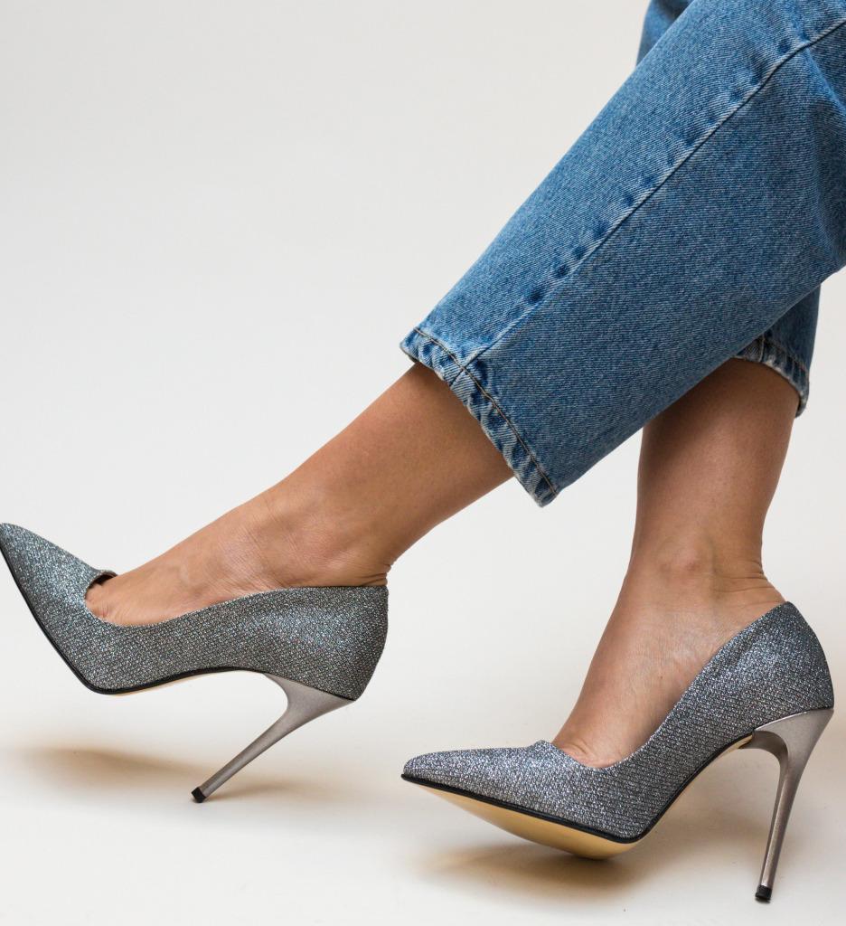 Pantofi Jendo Gri