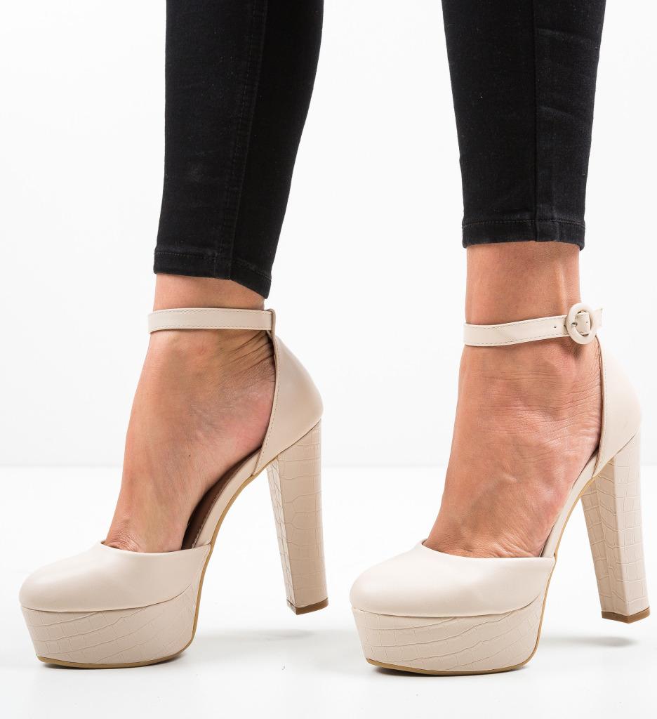 Pantofi Krista Bej