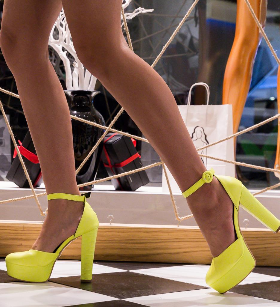 Pantofi Krista Verzi Neon