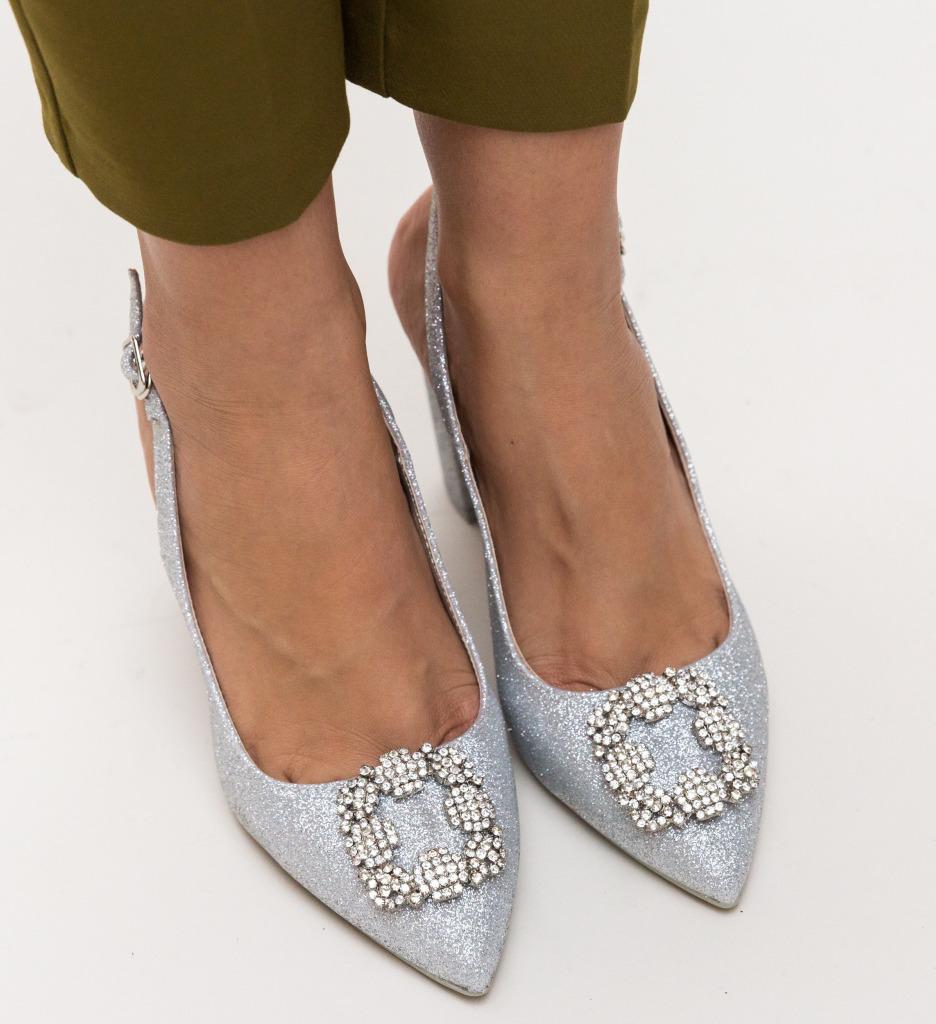 Pantofi Nina Argintii