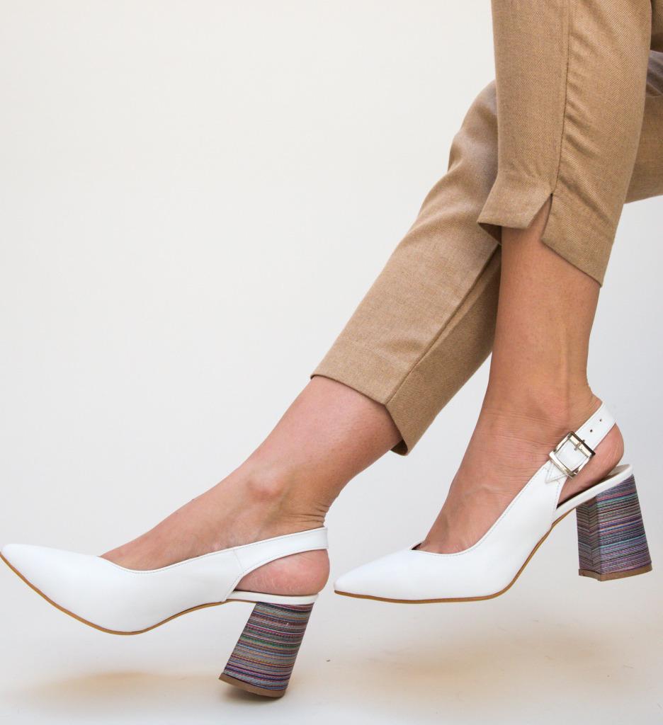Pantofi Palalama Alb