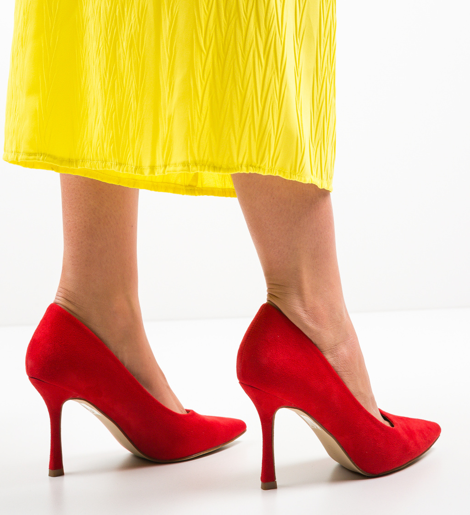 Pantofi Raqo Rosii