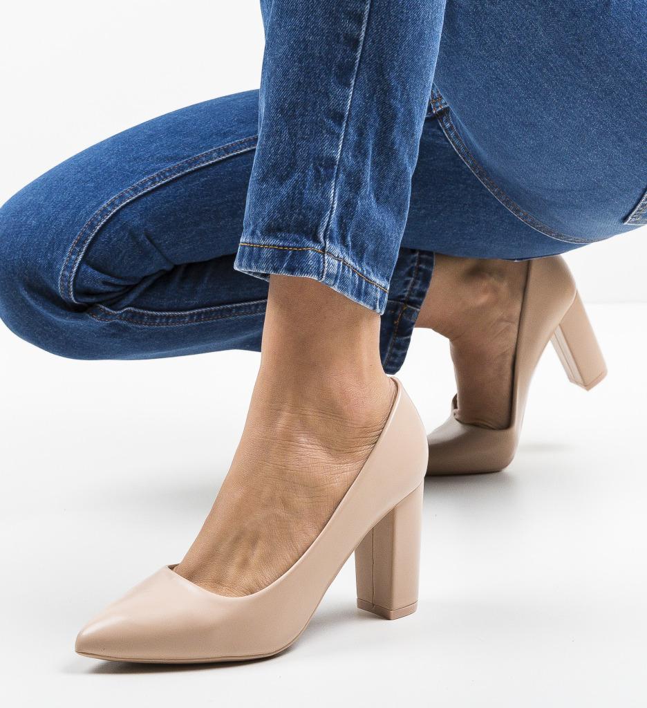 Pantofi Renn Nude