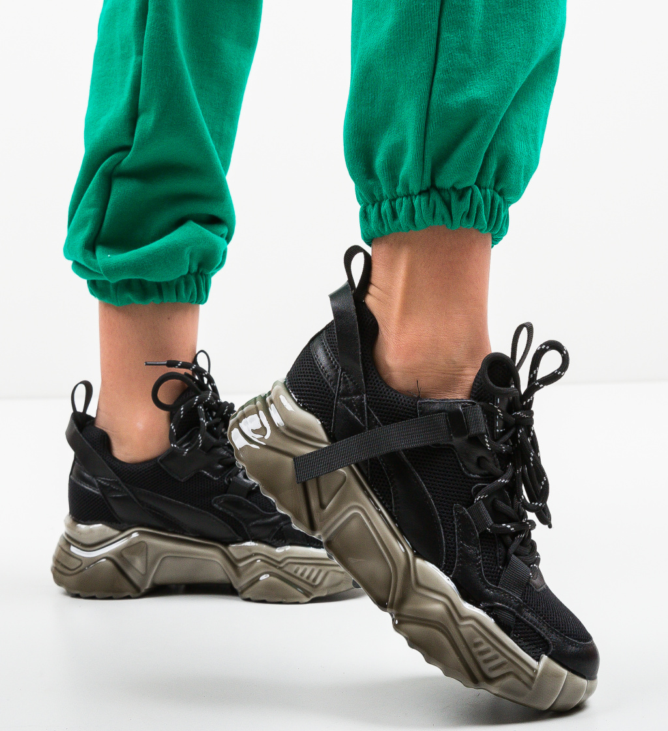 Pantofi Sport Hellty Negri