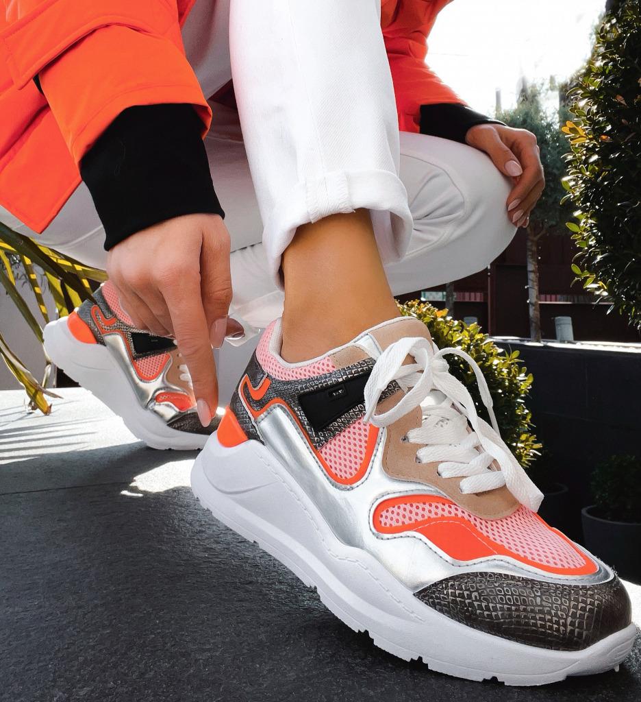 Pantofi Sport Mcma Portocalii