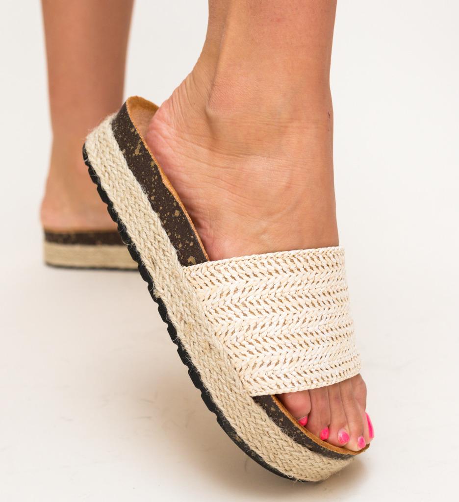 Papuci Colbota Bej