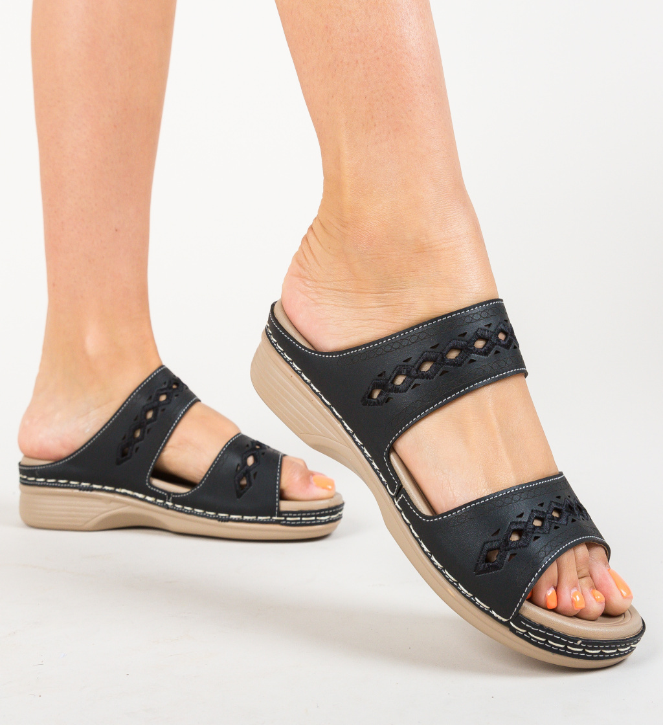 Papuci Colon Negri