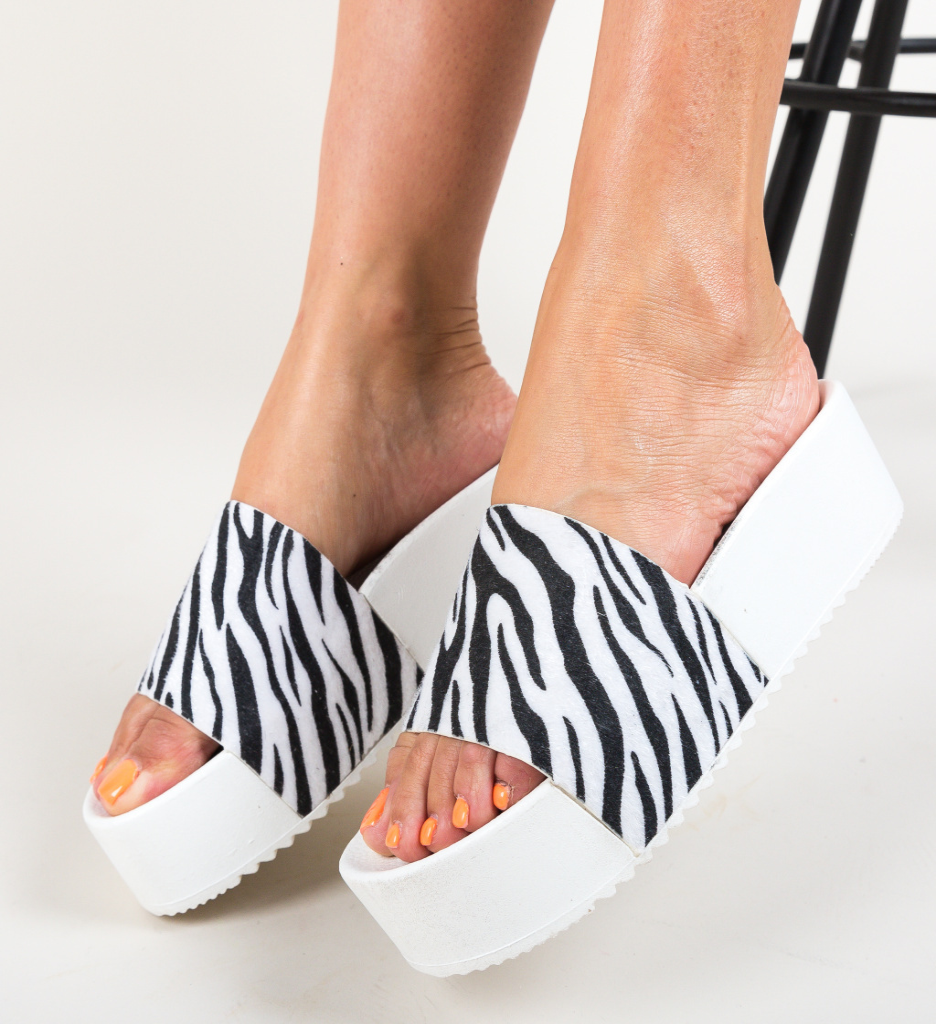 Papuci Elin Zebra