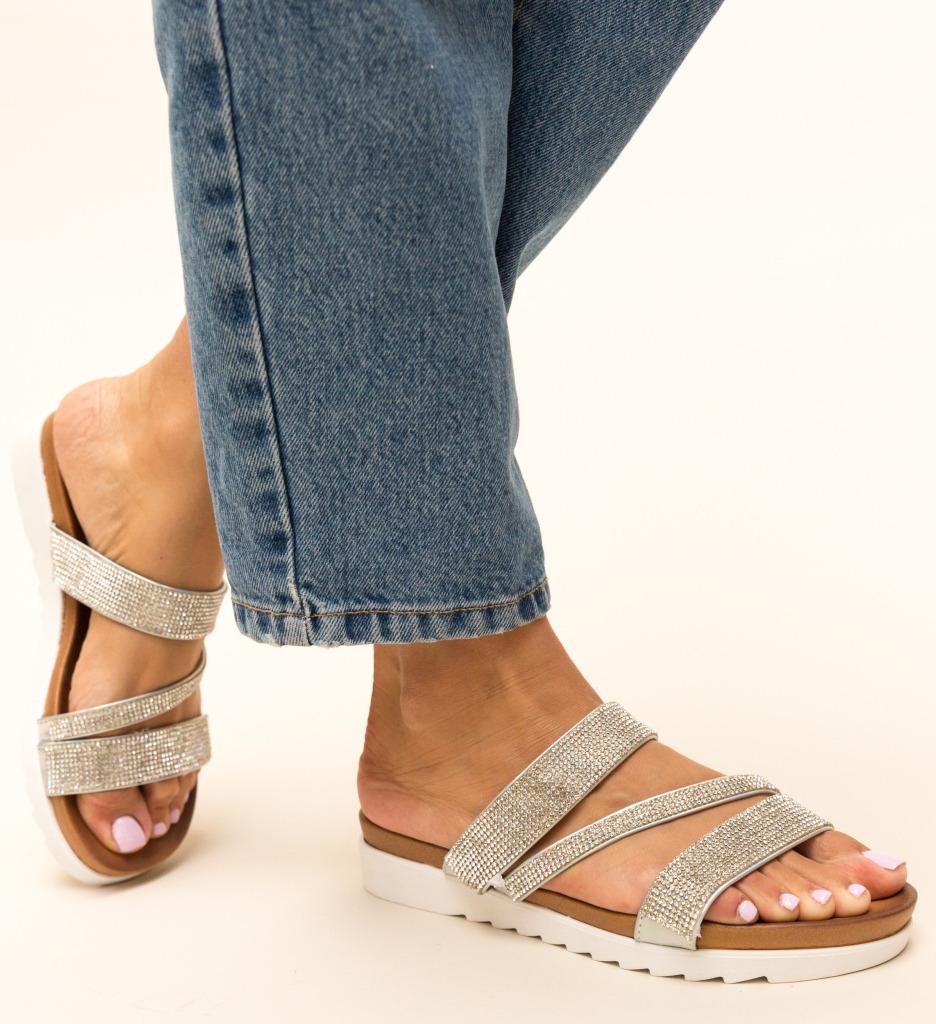 Papuci Sakina Argintii