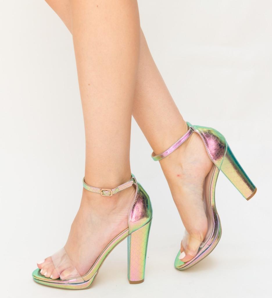 Sandale Genie Verzi Mix