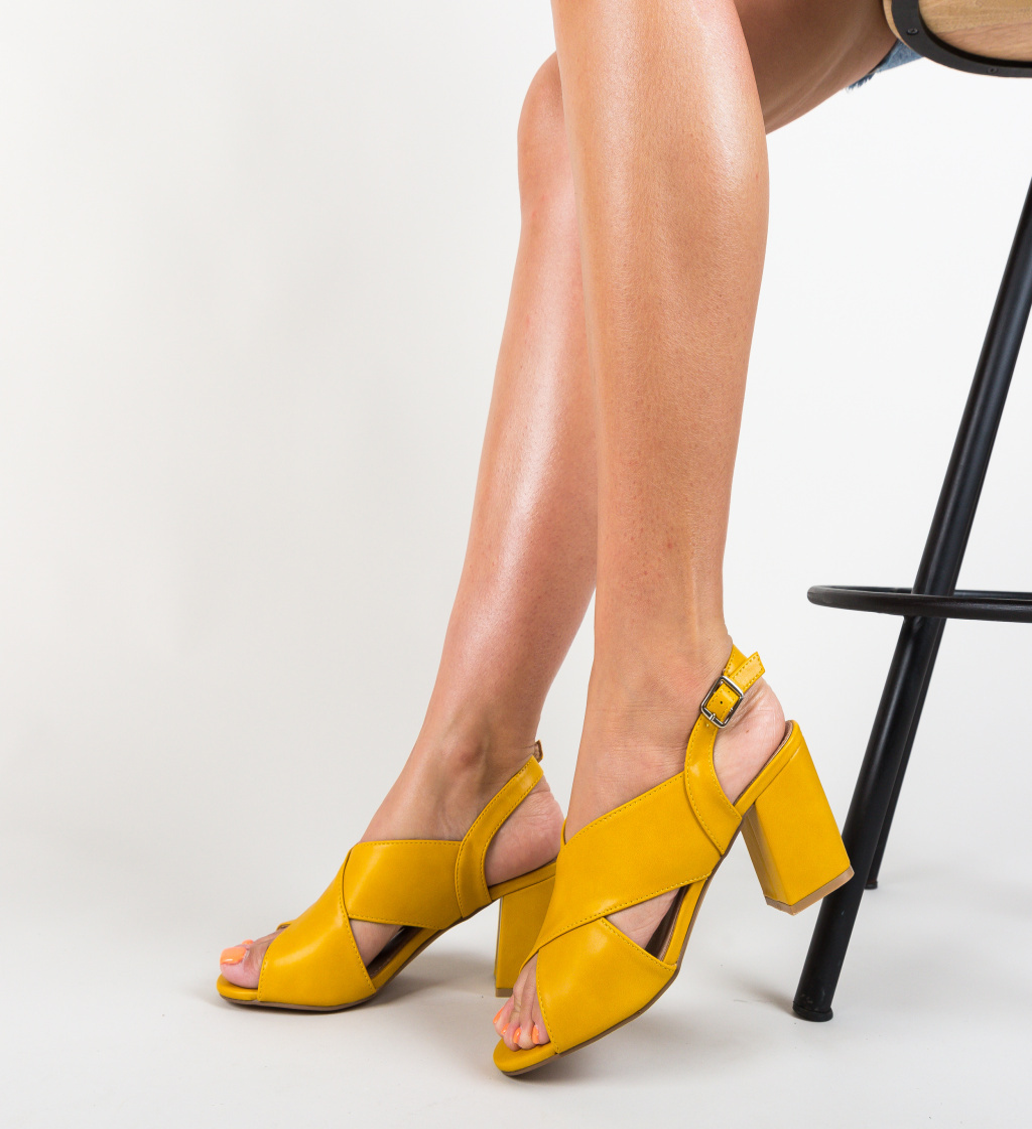 Sandale Ibadan Galbene