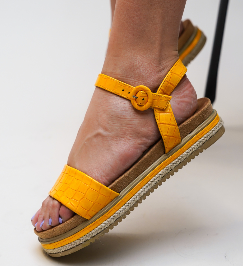 Sandale Lute Galbene