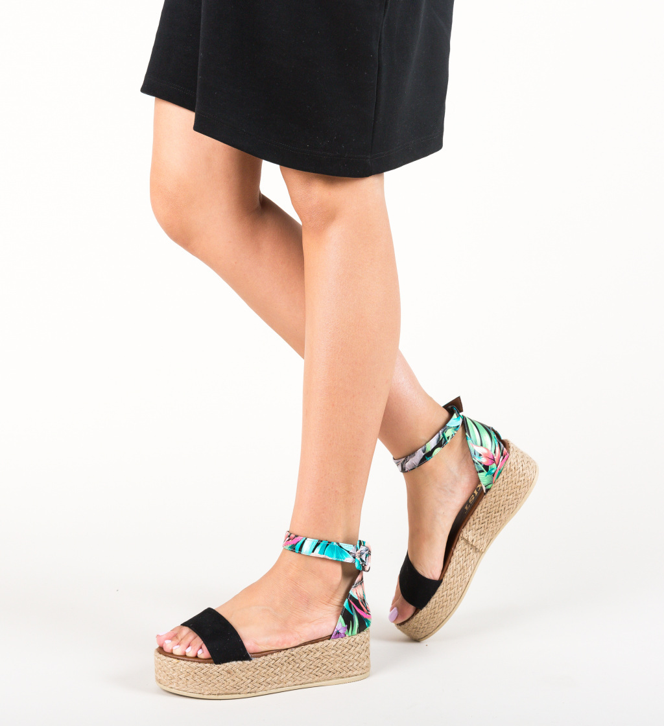 Sandale Saren Negre