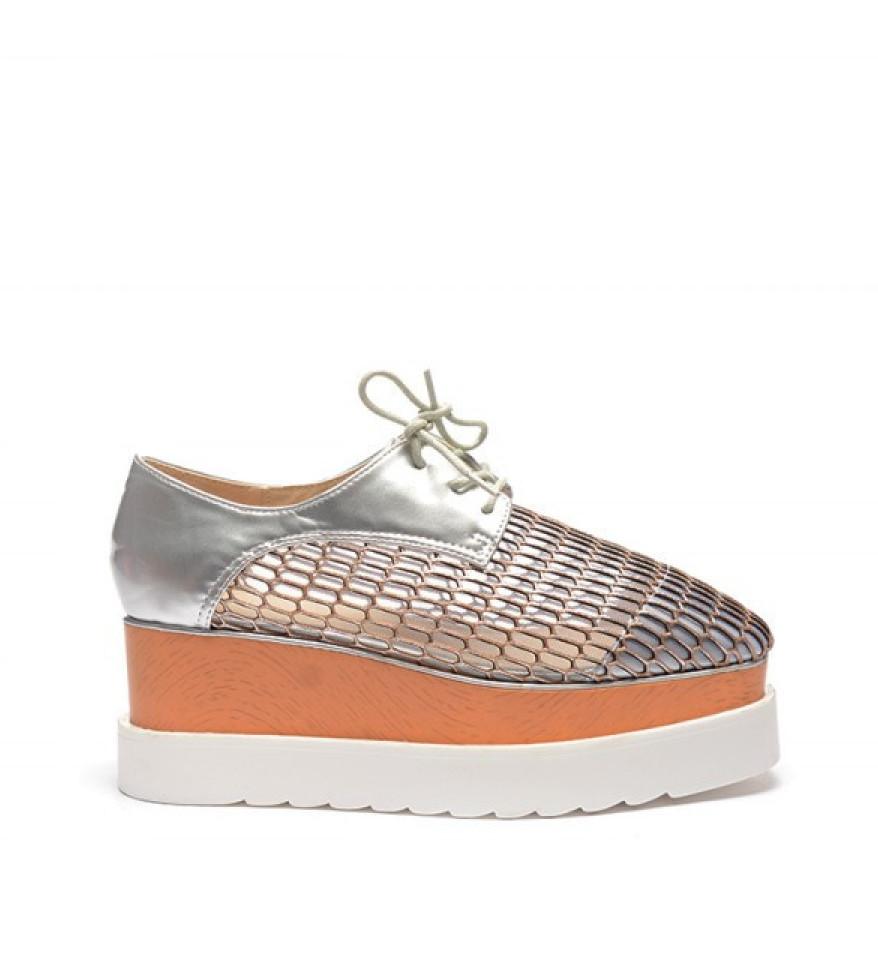 Pantofi Gyno Argintii