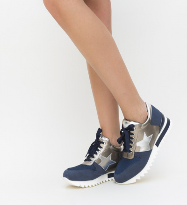 Pantofi Sport Enigma Albastri