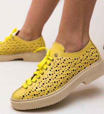 Pantofi Casual Muse Galbeni