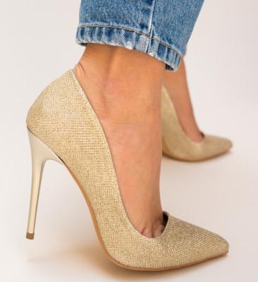 Pantofi Jendo Aurii