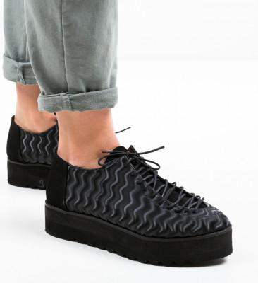 Pantofi Casual Asco Negri