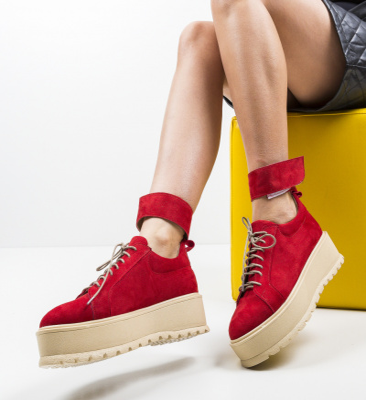 Pantofi Casual Brosky Rosii