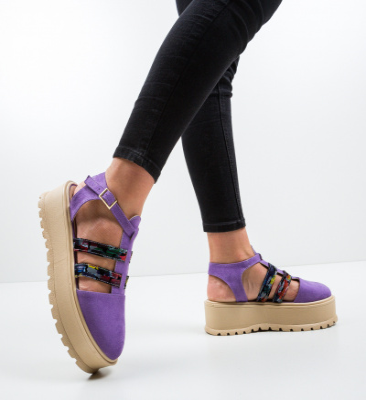 Pantofi Casual Daneza Mov