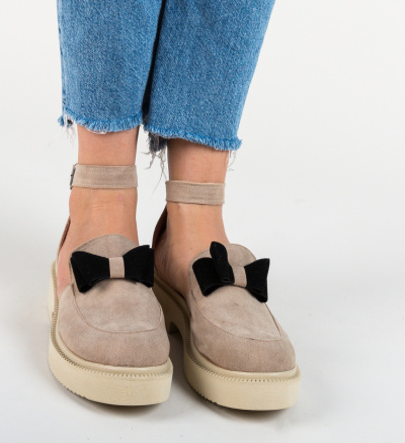 Pantofi Casual Pretty Bej 3