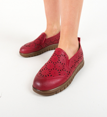 Pantofi Casual Resca Rosii