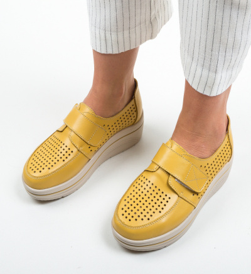 Pantofi Casual Rezolito Galbene