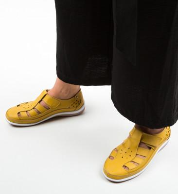 Pantofi Casual Saptes Galbeni