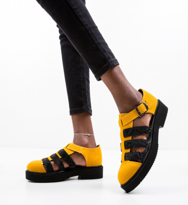 Pantofi Casual Wopka Galbeni