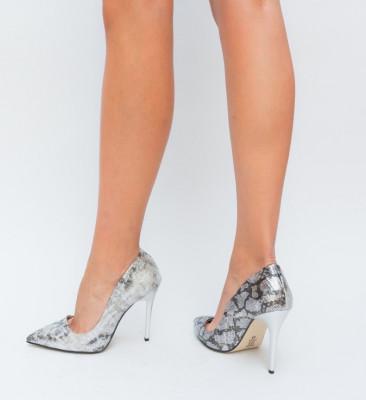 Pantofi Claude Argintii