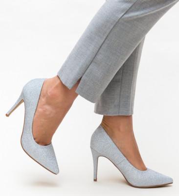 Pantofi Cruze Argintii