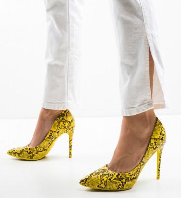 Pantofi Emmy Galbeni