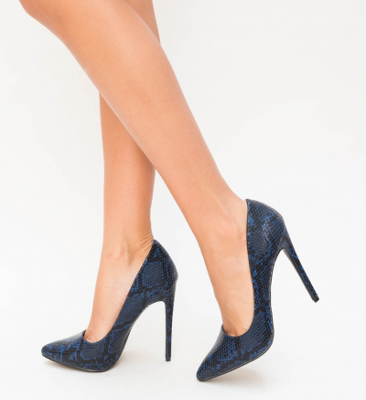 Pantofi Enio Albastri