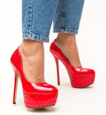 Pantofi Jemima Rosii