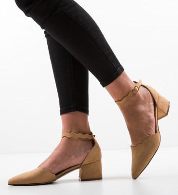 Pantofi Mildred Camel