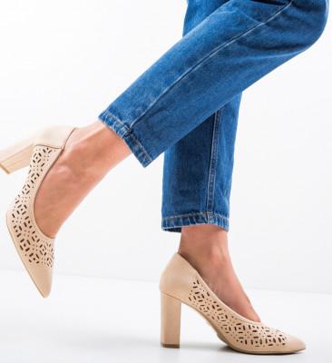 Pantofi Roc Bej