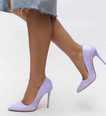 Pantofi Shaggy Mov 3