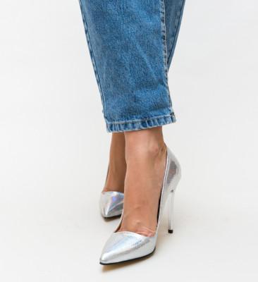 Pantofi Sinclair Argintii
