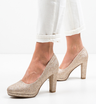 Pantofi Tregaza Aurii