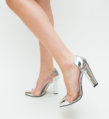 Pantofi Vlas Argintii