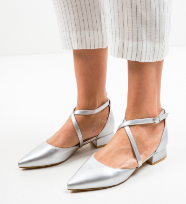 Pantofi Yousif Argintii