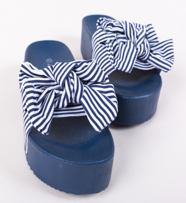 Papuci Begum Bleumarin