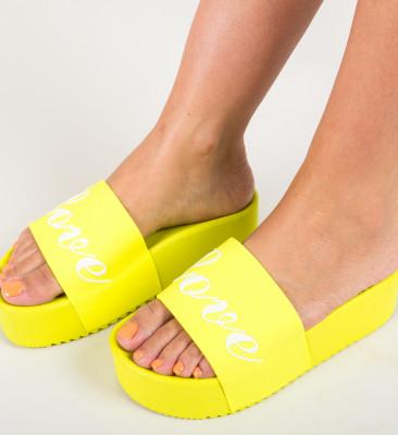 Papuci Connor Galbeni (Neon)