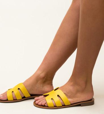 Papuci Nuala Galbeni