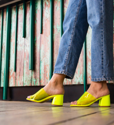 Sandale Zilean Galbene Neon