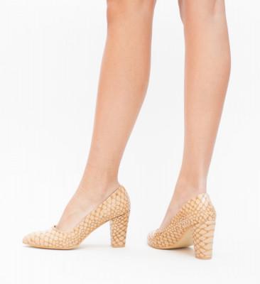 Pantofi Kroko Khaki